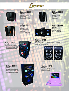 #Eletroeletrônicos #Lenoxx #RádioAutomotivo #Tablet #Celular #CaixaAmplificadora #AparelhoDVD #HomeTheather