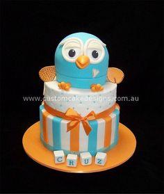 Giggle and Hoot Cake  Cake by customcakedesignsoz Pink Hoot Owl Cake Owl Cake — Children's Birthday Cakes party Girl Boys Kid Kids