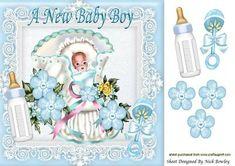 Sweet Dreams Baby Boy 8x8 on Craftsuprint - Add To Basket!