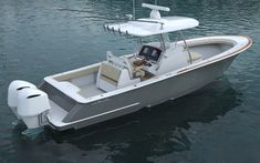 Viking Enters the White-Hot Outboard Market. In a surprise announcement, Viking Yachts announced the formation of a new company–Valhalla Boatworks–to build a line of luxury center consoles. Viking Yachts, Center Console Boats, Viking Designs, Deck Boat, Below Deck, Yacht For Sale, Fresh Water Tank, Fishing Accessories, Super Yachts