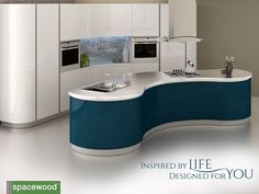 Adorn your kitchen space with curves. Check out squad kitchen from Spacewood. #Kitchens #KitchenDesign #KitchenInterior #ModularKitchen #ModernKitchen #Kitchenology #StylishKitchen #ContemporaryKitchen #KitchenDesignIdeas #Home #Lifestyle #LuxuryKitchen by spacewoodfurnishers