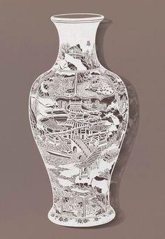 Hand-Cut Rice Paper Artwork by Bovey Lee -- with Mesmerizing Details! Kirigami, Chinese Paper Cutting, Paper Cut Design, Book Sculpture, Art Sculptures, Paper Artwork, Art Original, Paper Artist, Stencil Painting
