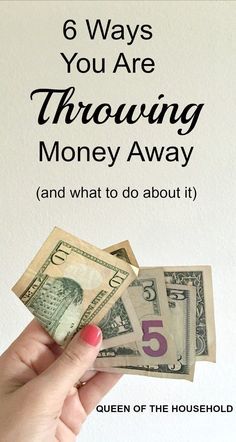 Ways you may be throwing money away! Find out how to save money with these frugal living tips.