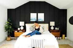 Bedroom Wall, Master Bedroom, Bedroom Ideas, Bedroom Decor, Dark Paint Colors, Sexy Home, Attic Remodel, Dark Walls, Attic Rooms