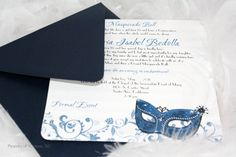 This simple but chic masquerade ball invitation is perfect for a great birthday party or event with this theme.  #mask #masquerade #invitation @sdezigns