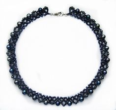 Free pattern for necklace Elegance | Beads Magic  ~ Seed Bead Tutorials