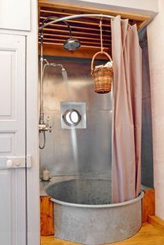 Old fashion shower/bath? Recycle recycle recycle love it