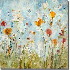 Robert Mertens 'Poppy Panorama' 3-piece Canvas Art Set - Overstock ...
