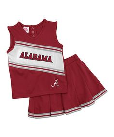 Take a look at this Alabama Cheerleading Top & Skirt - Toddler by Knights Apparel on #zulily today!