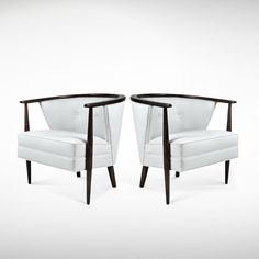 Pair of Danish Modern Lounge Chairs, 1960s | From a unique collection of antique and modern lounge chairs at www.1stdibs.com/...