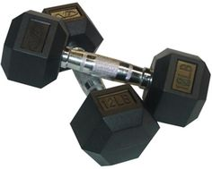 ONE PAIR NEW Strencor 2.5 lb Rubber Hex Dumbbell Set SAME DAY SHIPPING!