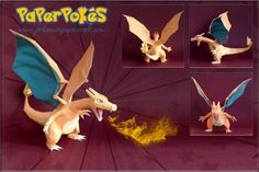 Pokemon Papercraft Templates Charizard #3