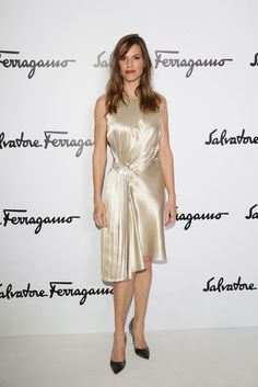 Hilary Swank Photos: Front Row at the Salvatore Ferragamo Show