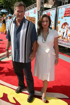 Bruce Campbell and wife Ida Gearon, So cute!! :)