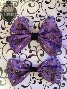 Disney's Haunted Mansion inspired Bows, would go awesome with a black lace shirt or dress!