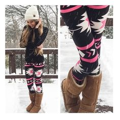 • Bubblegum Aztec Leggings • These bubblegum beauties are the perfect addition to your wardrobe! Soft micro-fiber material that shapes to your body- one size fits most. Very stretchy. 65% polyester, 35% cotton. Machine wash cold.   ↓Follow me on Instagram ↓         @ love.jen.marie Jennifer's Chic Boutique Pants Leggings