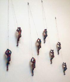 Climbing Man Wall Art colored climbing man wall sculpture |  interesting image with