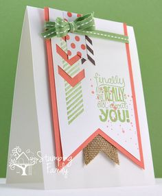 Card Making Ideas | Punch Art | Stampin' Up! Cards | How To Tie A Bow | Join Stamping Family today and get access to HUNDREDS of card making videos, your own gallery, several weekly inspirations and so much more! The only thing missing from Stamping Family is YOU! http://iteachstamping.com/stamping-family-2/
