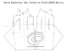 Pattern Puzzle - Twist or Cowl Shift Dress