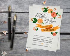 "Wedding Stationery - Victoria"" Invitation"
