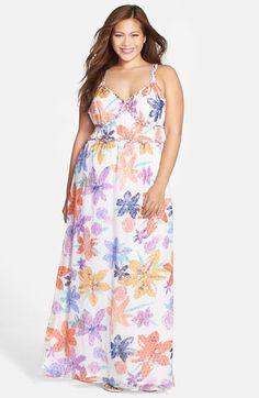 Jessica Simpson 'Roslyn' Print Maxi Dress (available at #Nordstrom