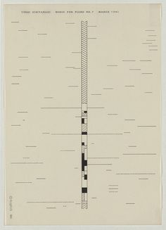 Experimental music notation resources - Toshi Ichiyanagi, including some written instructions for Music Visualization, Information Visualization, Graphic Score, Free Jazz, Experimental Music, John Cage, Partition, Information Design, Sound Design