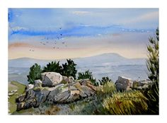 Transatlanta Aguarelas Portuguesas- Julio Rodrigues - Estrela do Caramulo- Portugal Portugal, Painters, Draw, Street Art, Watercolour, Star, Sketches, Painting, To Draw