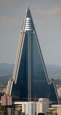 Ryugyong Hotel Skyscraper :: North Korea - really is one of the ugliest buildings I ever saw