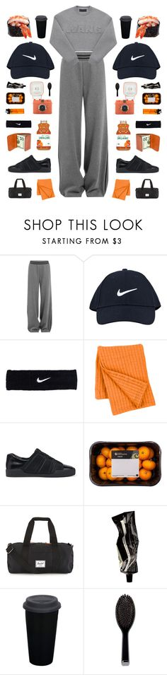 """""""fella"""" by cnellepoms ❤ liked on Polyvore featuring Puma, NIKE, Pine Cone Hill, 3.1 Phillip Lim, Herschel Supply Co., Aesop, GHD, black, grey and sporty"""