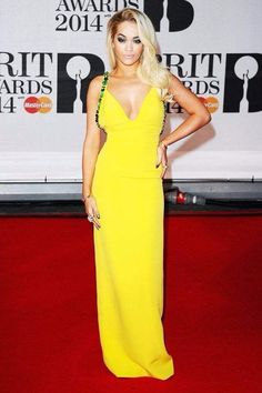 Yellow touch Rita Ora Beautiful