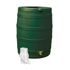 Good Ideas Rain Wizard 50 Rain Barrel & Diverter Kit - Green