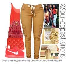 """""""Been a Real N*gga Since Day One"""" by our-dopest-anons ❤ liked on Polyvore featuring Enza Costa, MCM, 2Me Style and NIKE"""