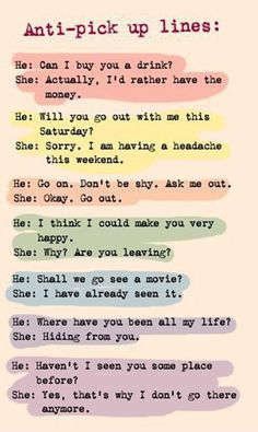 Quirky chat up lines
