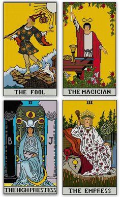 Major Arcana Tarot Cards set Cross stitch patterns by Whoopicat