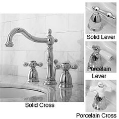 Chrome Widespread Bathroom Faucet Different types of faucet pulls