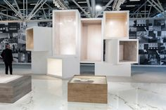 Ariostea surface container at Cersaie 2013 by Marco Porpora Bologna Italy 06