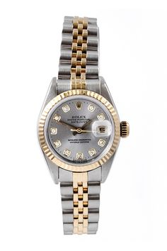 Vintage Rolex Women's Date-just Stainless Steel Watch