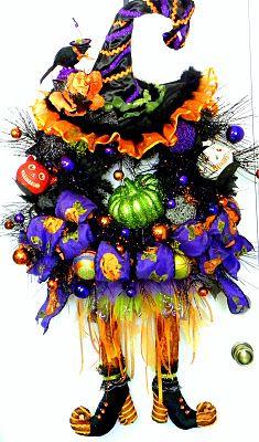 Halloween Witch Door Wreath