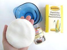 ingredienser til selvtørrende ler - Diy For Kids, Crafts For Kids, Navidad Diy, Salt Dough, Diy Clay, Diy Coasters, Creative Kids, Diy Projects To Try, Diy Gifts