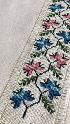 Hand Embroidery Design Patterns, Cross Stitch Patterns, Palestinian Embroidery, Cross Stitch Heart, Linen Napkins, Bargello, Baby Knitting Patterns, Crochet, Folk Art