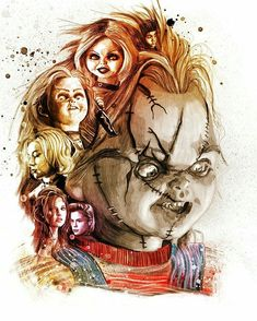 kogaionon: Childs Play for Empire Magazine by Peter. Scary Movie Characters, Scary Movies, Chucky Movies, Childs Play Chucky, Horror Artwork, Horror Icons, Horror Films, Horror Show, Real Horror