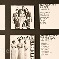 Motown-Themed Table Cards