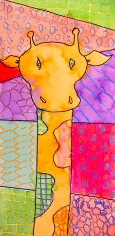 Panther's Palette: Grade: Patterned Giraffes Wonderful art teacher shares her project ideas! 3rd Grade Art Lesson, Third Grade Art, Animal Art Projects, Giraffe Art, Ecole Art, School Art Projects, Kindergarten Art, Art Lessons Elementary, Art Lesson Plans