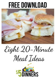 Free Download 20-Minute Meal Ideas from 5DollarDinners.com