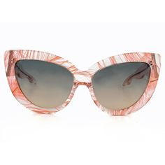Charlotte Olympia Cat Eye Feathers Sunglasses ($370) found on Polyvore