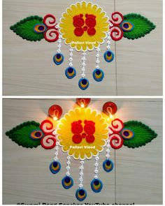 Happy Diwali Rangoli, Easy Rangoli Designs Diwali, Indian Rangoli Designs, Simple Rangoli Designs Images, Rangoli Designs Flower, Free Hand Rangoli Design, Colorful Rangoli Designs, Rangoli Ideas, Diwali Craft