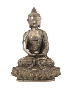 White Copper Intricate Design Buddha Statue - Buddha Statues