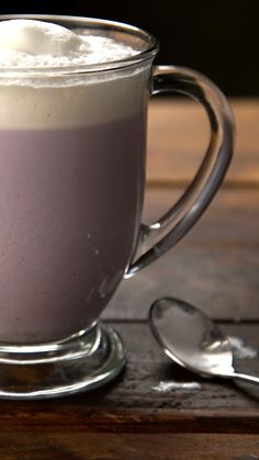 A purple sweet potato makes this the most royal of rich, sweet lattes.