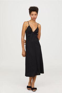 Kjole med bindedetalje - Sort - DAME | H&M DK 1