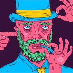 https://www.instagram.com/mr.cooked  #art #acid #streetart #illustrator #design #artist #hat